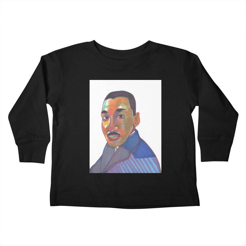 MLK Kids Toddler Longsleeve T-Shirt by birdboogie's Artist Shop