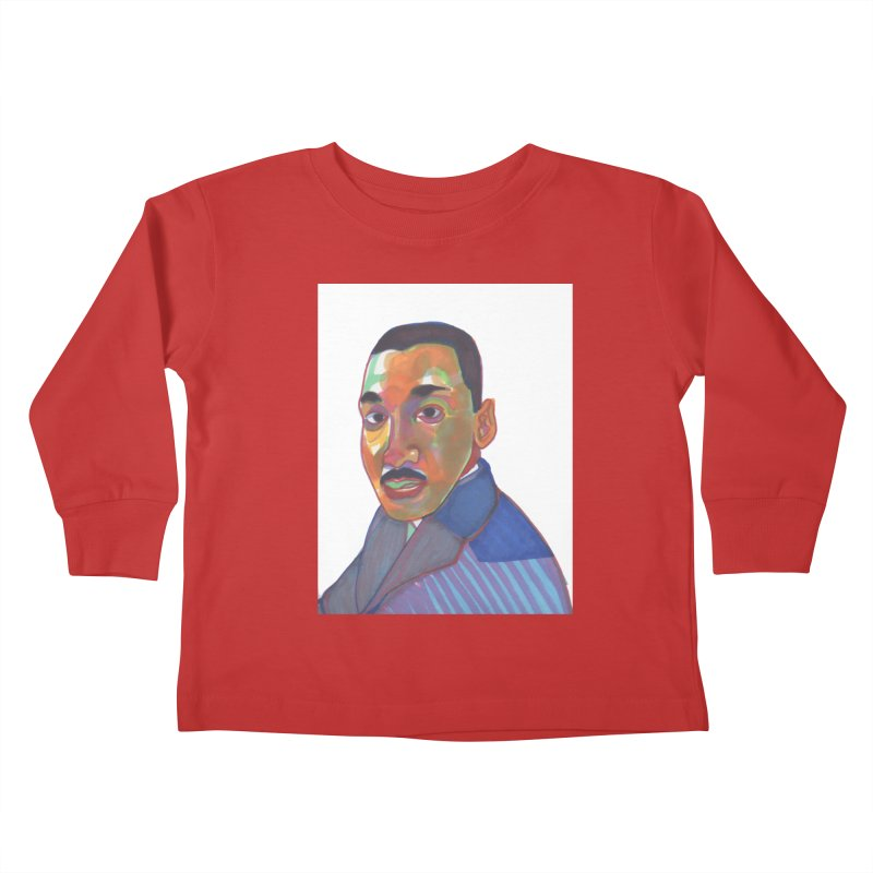 MLK Kids Toddler Longsleeve T-Shirt by birdboogie's Artist Shop