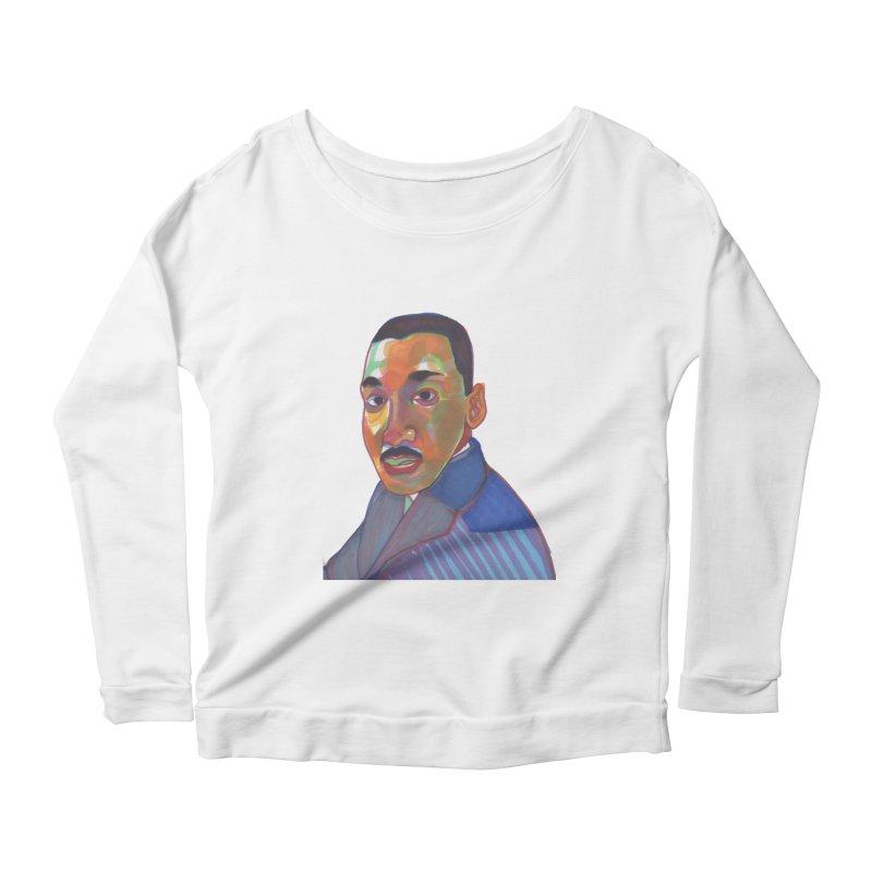 MLK Women's Scoop Neck Longsleeve T-Shirt by birdboogie's Artist Shop