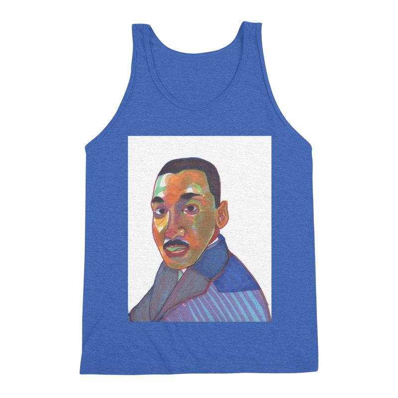 MLK Men's Triblend Tank by birdboogie's Artist Shop