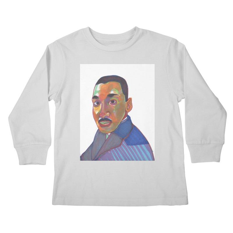 MLK Kids Longsleeve T-Shirt by birdboogie's Artist Shop