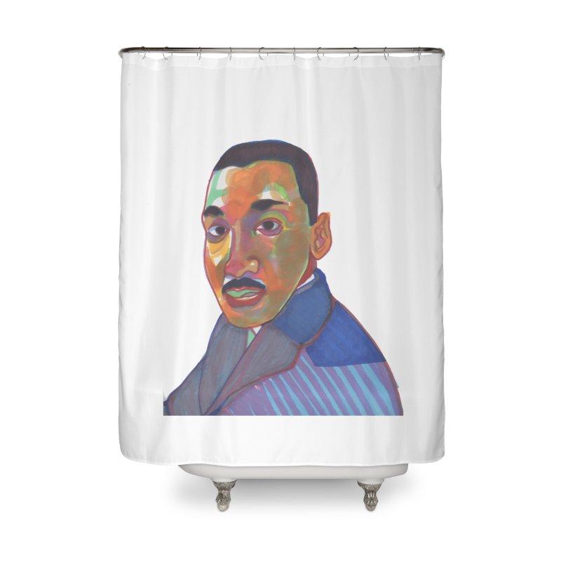 MLK Home Shower Curtain by birdboogie's Artist Shop