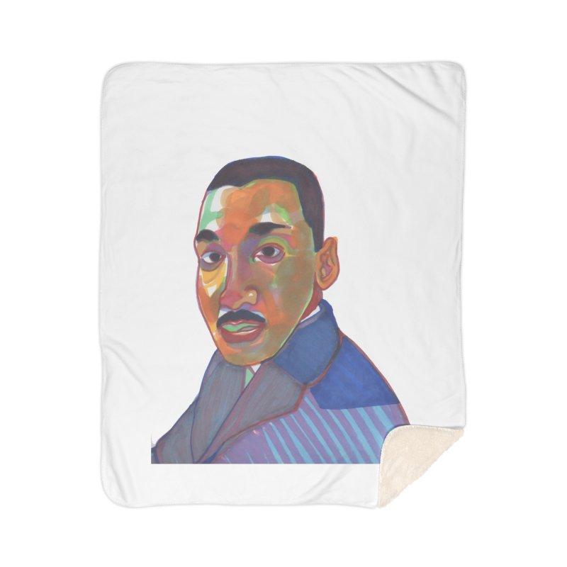 MLK Home Blanket by birdboogie's Artist Shop