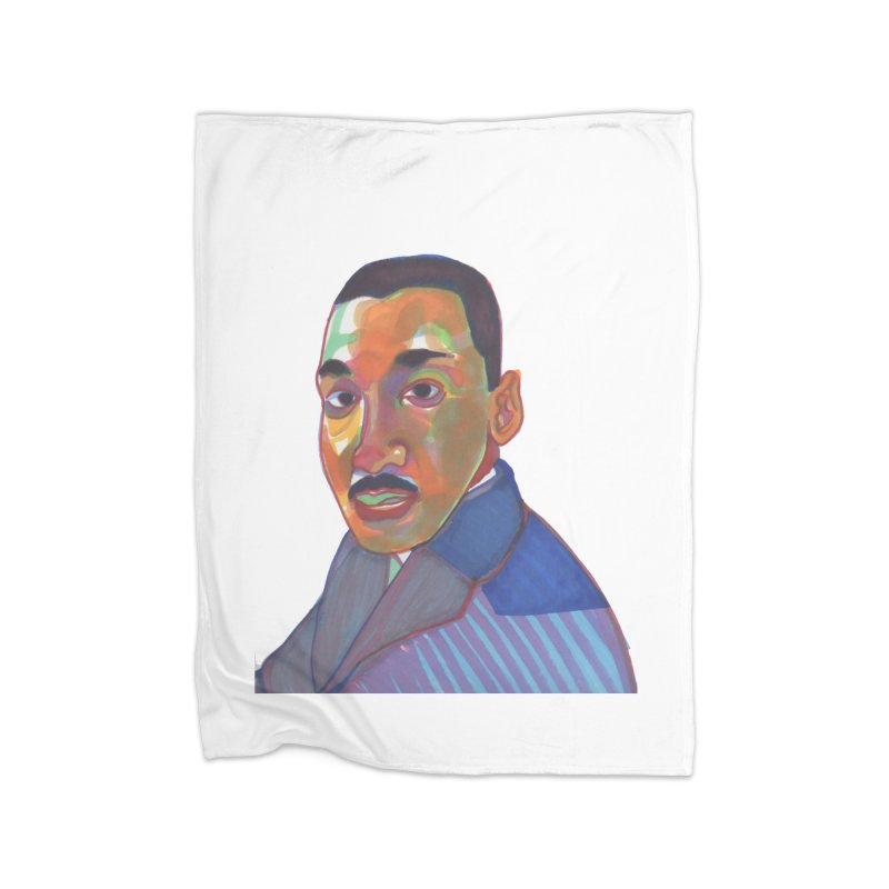 MLK Home Blanket by birdboogie's Artist Shop