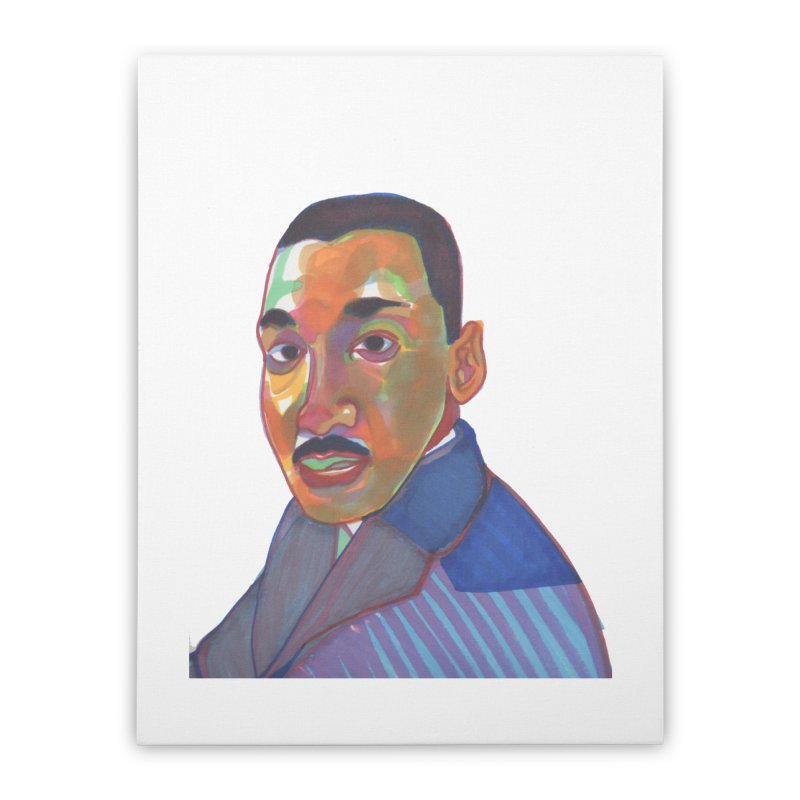 MLK Home Stretched Canvas by birdboogie's Artist Shop