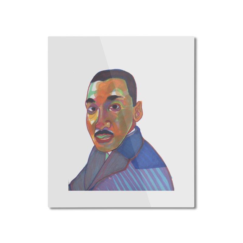 MLK Home Mounted Aluminum Print by birdboogie's Artist Shop