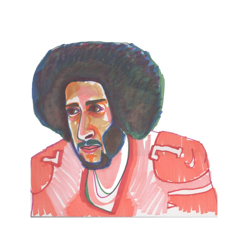 Kaep Home Mounted Aluminum Print by birdboogie's Artist Shop