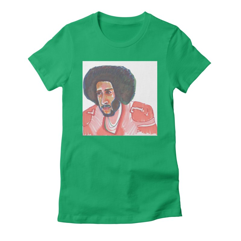 Kaep Women's Fitted T-Shirt by birdboogie's Artist Shop