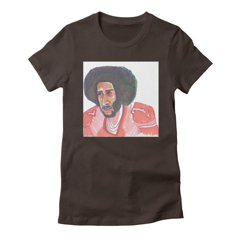 Kaep Women's Fitted T-Shirt by birdboogie's Artist Shop