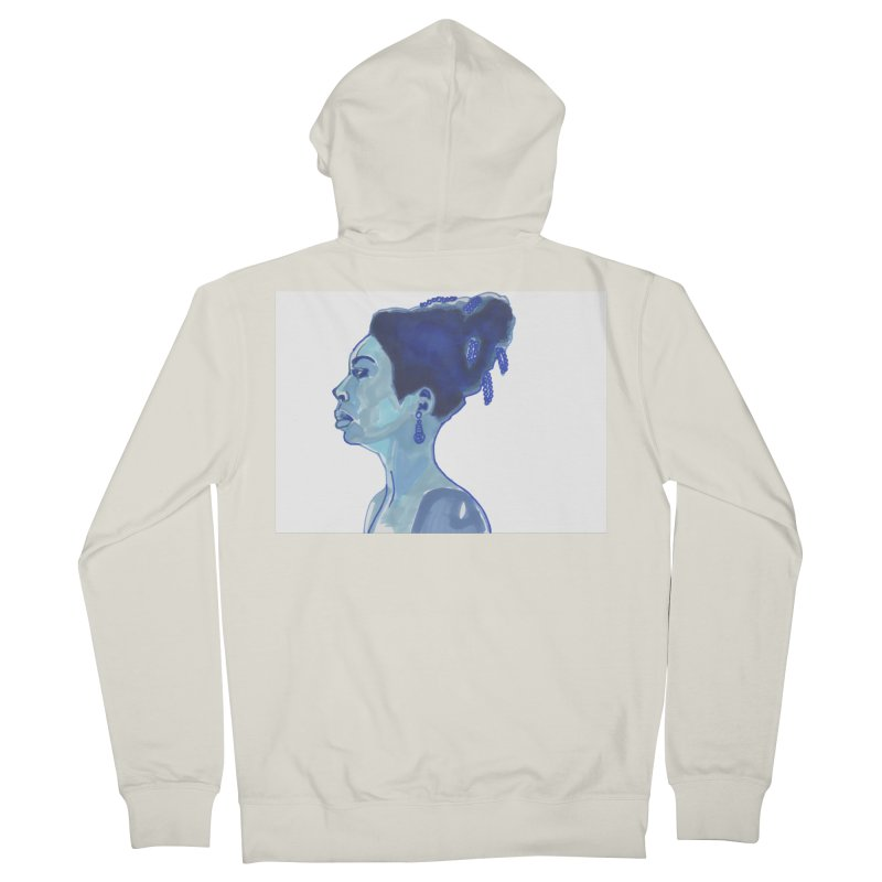 NINA Men's French Terry Zip-Up Hoody by birdboogie's Artist Shop