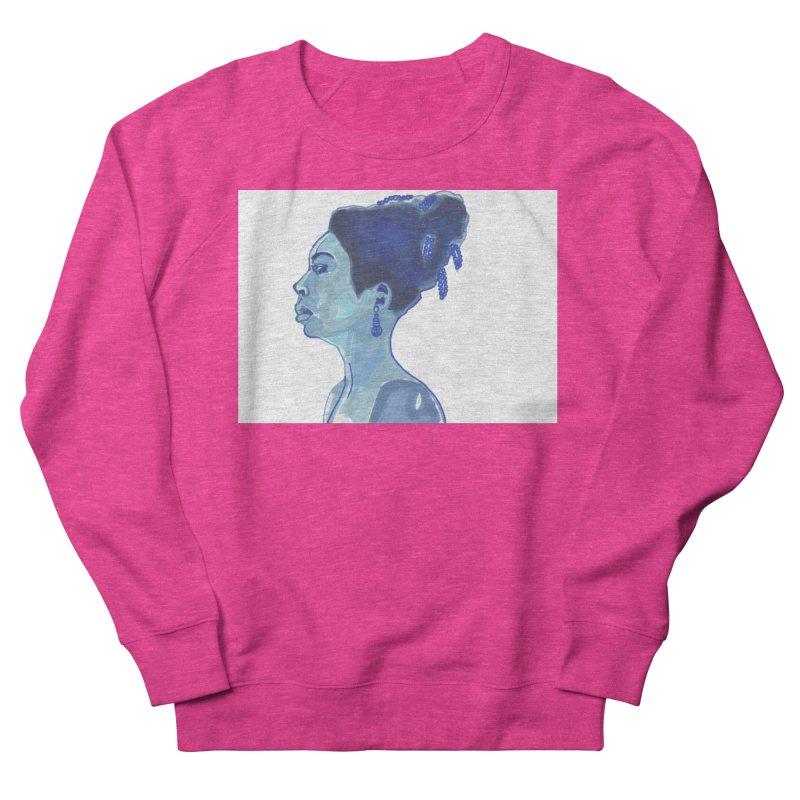 NINA Women's French Terry Sweatshirt by birdboogie's Artist Shop
