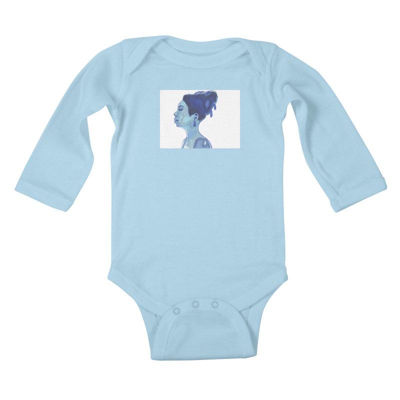 NINA Kids Baby Longsleeve Bodysuit by birdboogie's Artist Shop