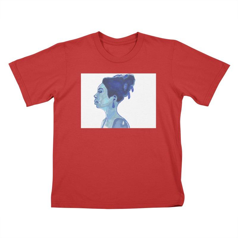 NINA Kids T-Shirt by birdboogie's Artist Shop
