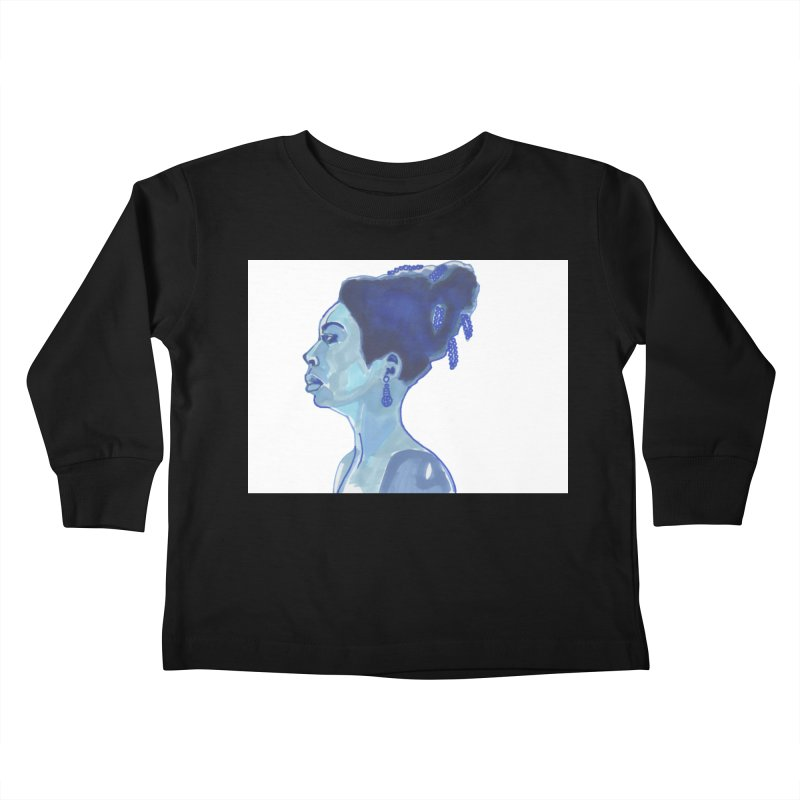 NINA Kids Toddler Longsleeve T-Shirt by birdboogie's Artist Shop