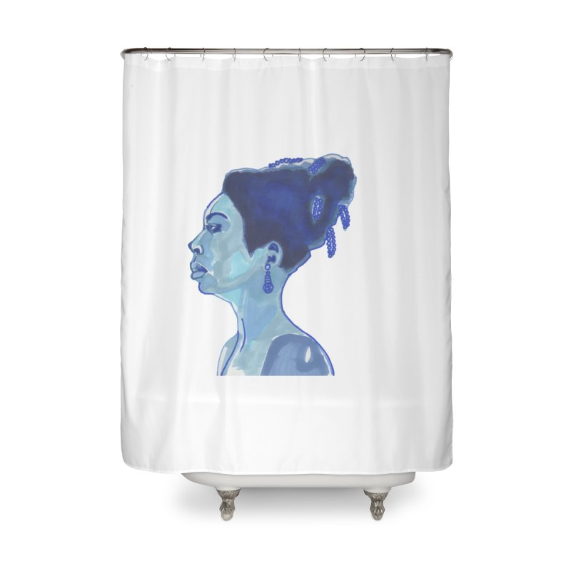 NINA Home Shower Curtain by birdboogie's Artist Shop
