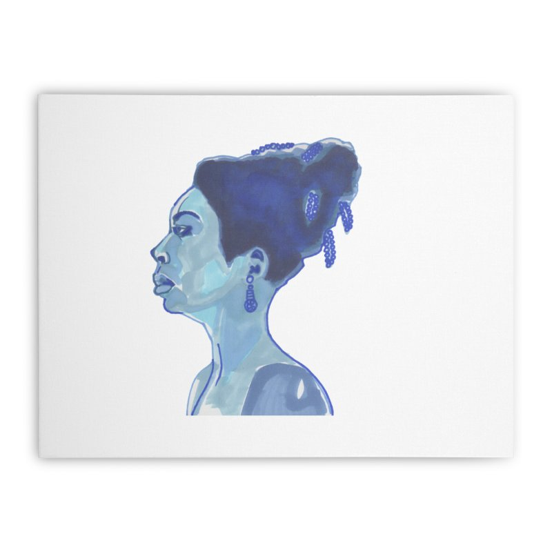 NINA Home Stretched Canvas by birdboogie's Artist Shop