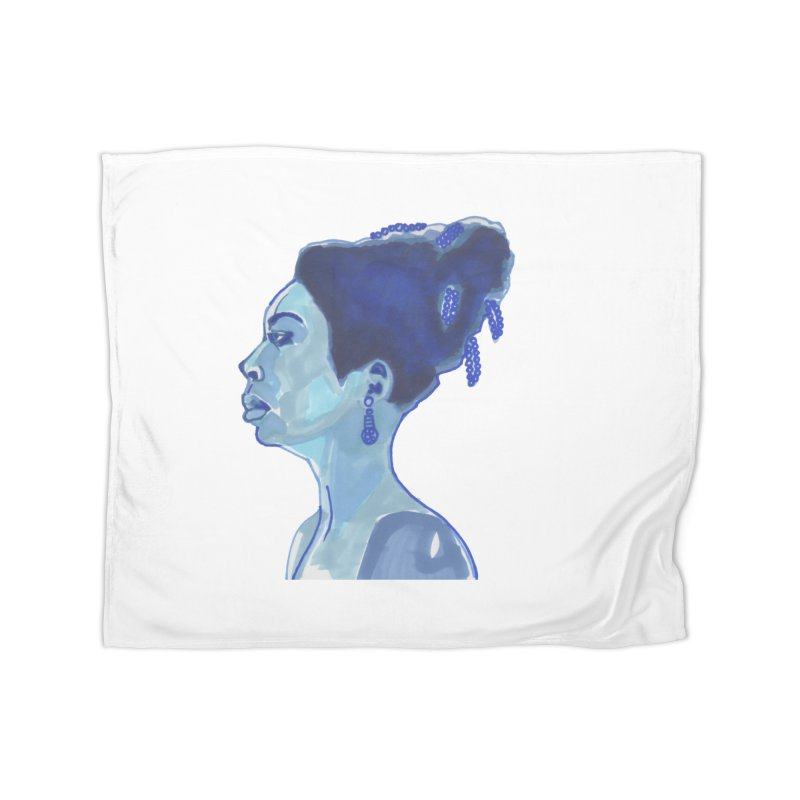NINA Home Fleece Blanket Blanket by birdboogie's Artist Shop