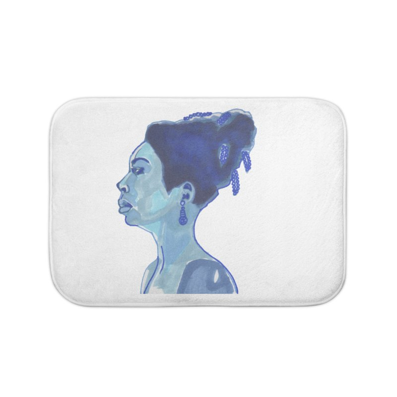 NINA Home Bath Mat by birdboogie's Artist Shop