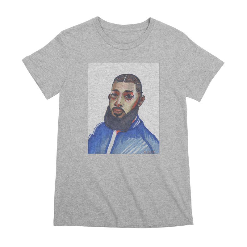 NIPSEY HUSSLE Women's Premium T-Shirt by birdboogie's Artist Shop