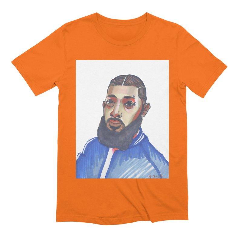 NIPSEY HUSSLE Men's Extra Soft T-Shirt by birdboogie's Artist Shop