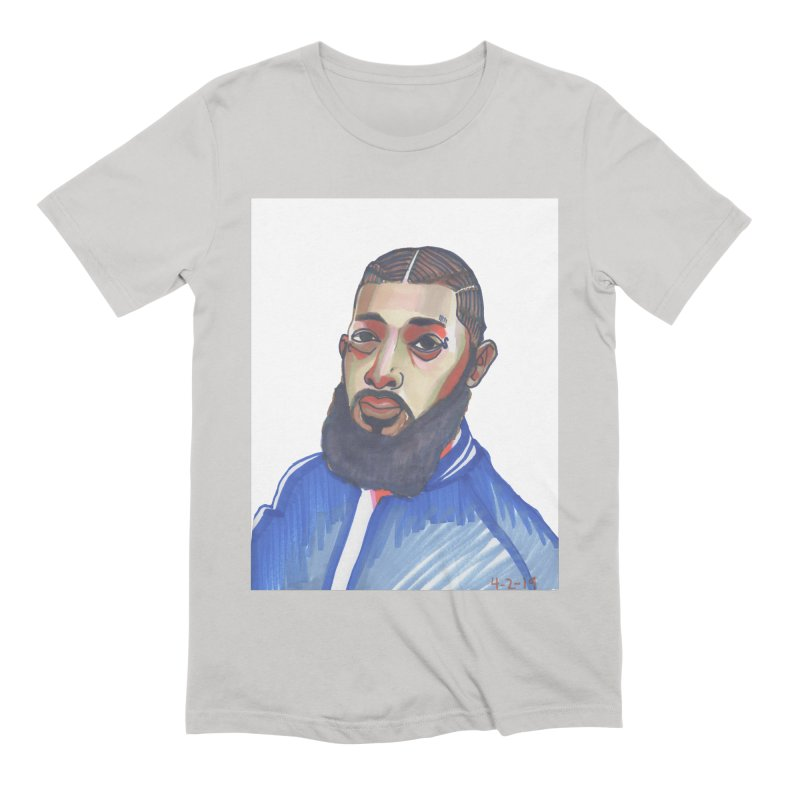 NIPSEY HUSSLE Men's Extra Soft T-Shirt by birdboogie's Artist Shop
