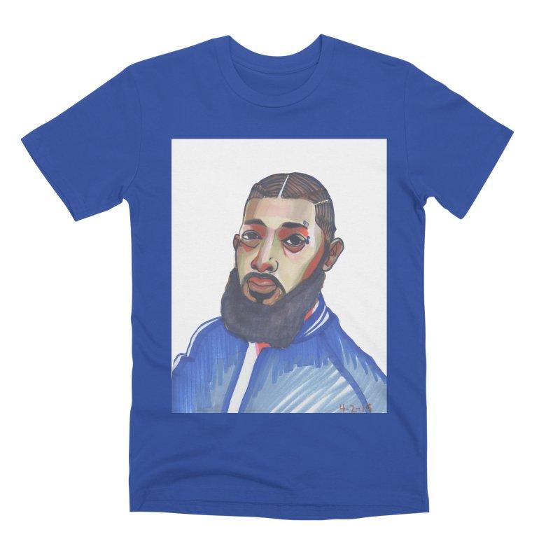 NIPSEY HUSSLE Men's Premium T-Shirt by birdboogie's Artist Shop