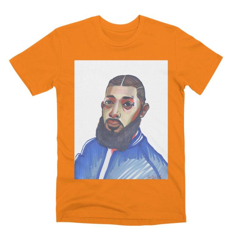 NIPSEY HUSSLE Men's T-Shirt by birdboogie's Artist Shop