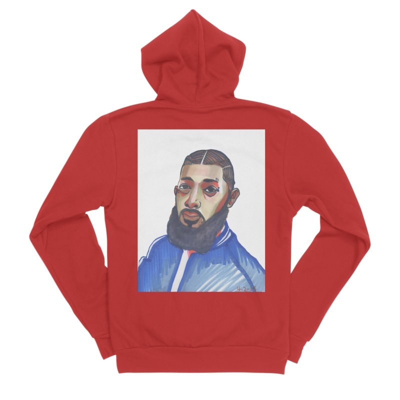 NIPSEY HUSSLE Women's Zip-Up Hoody by birdboogie's Artist Shop