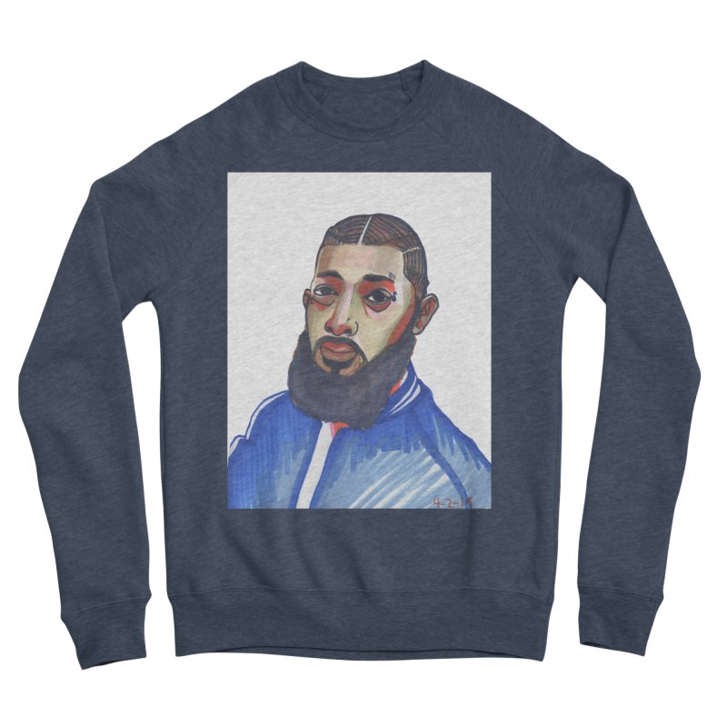 NIPSEY HUSSLE Women's Sponge Fleece Sweatshirt by birdboogie's Artist Shop