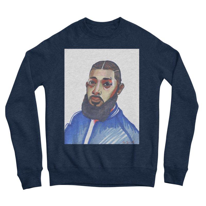 NIPSEY HUSSLE Men's Sweatshirt by birdboogie's Artist Shop