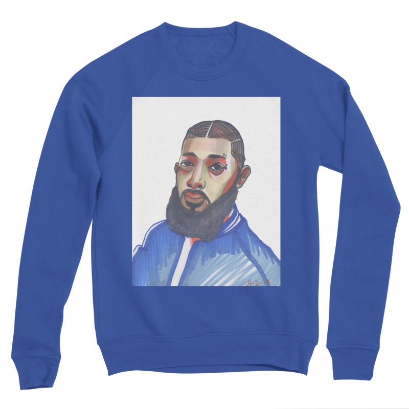 NIPSEY HUSSLE Men's Sweatshirt by birdboogie's Artist Shop