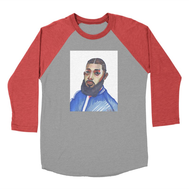 NIPSEY HUSSLE Men's Longsleeve T-Shirt by birdboogie's Artist Shop