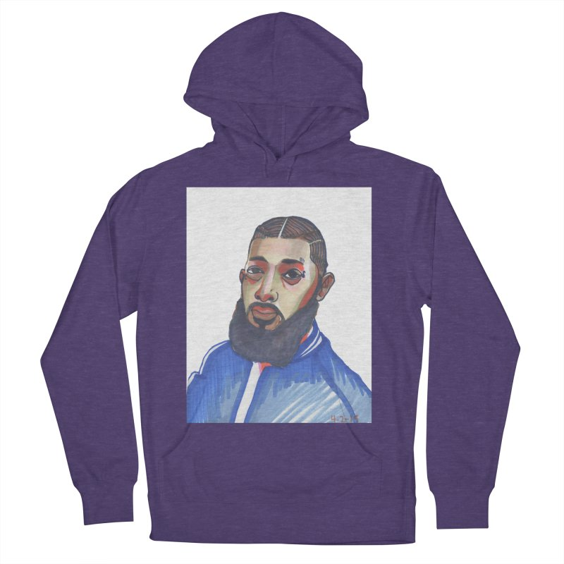 NIPSEY HUSSLE Women's French Terry Pullover Hoody by birdboogie's Artist Shop