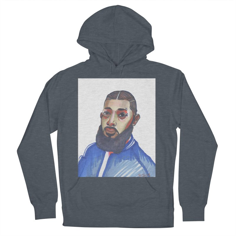 NIPSEY HUSSLE Men's French Terry Pullover Hoody by birdboogie's Artist Shop