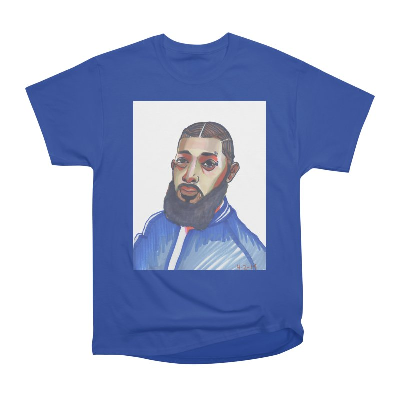 NIPSEY HUSSLE Men's Heavyweight T-Shirt by birdboogie's Artist Shop