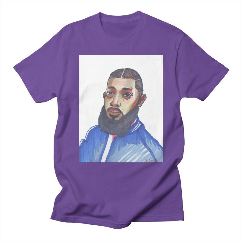 NIPSEY HUSSLE Men's Regular T-Shirt by birdboogie's Artist Shop