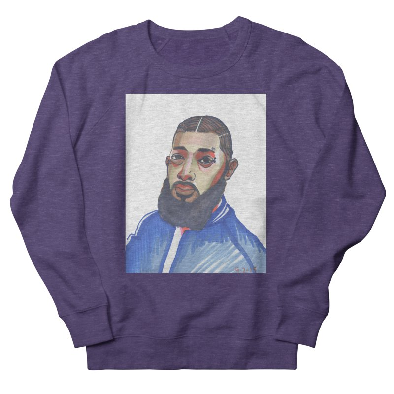 NIPSEY HUSSLE Men's French Terry Sweatshirt by birdboogie's Artist Shop