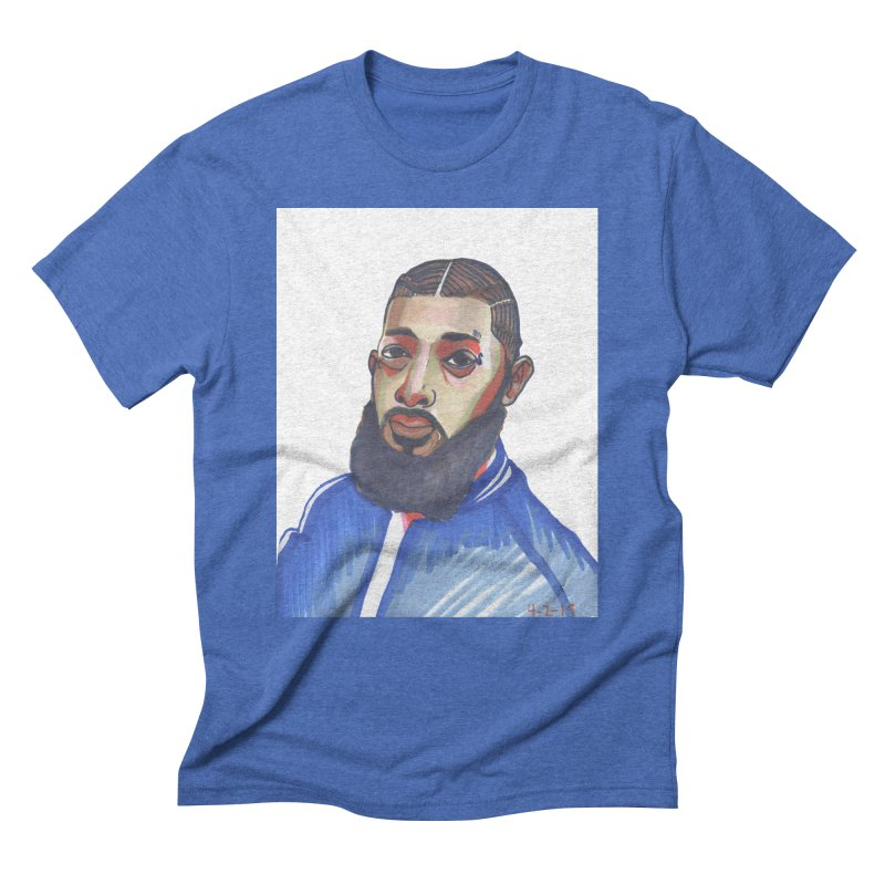 NIPSEY HUSSLE Men's T-Shirt by birdboogie's Artist Shop