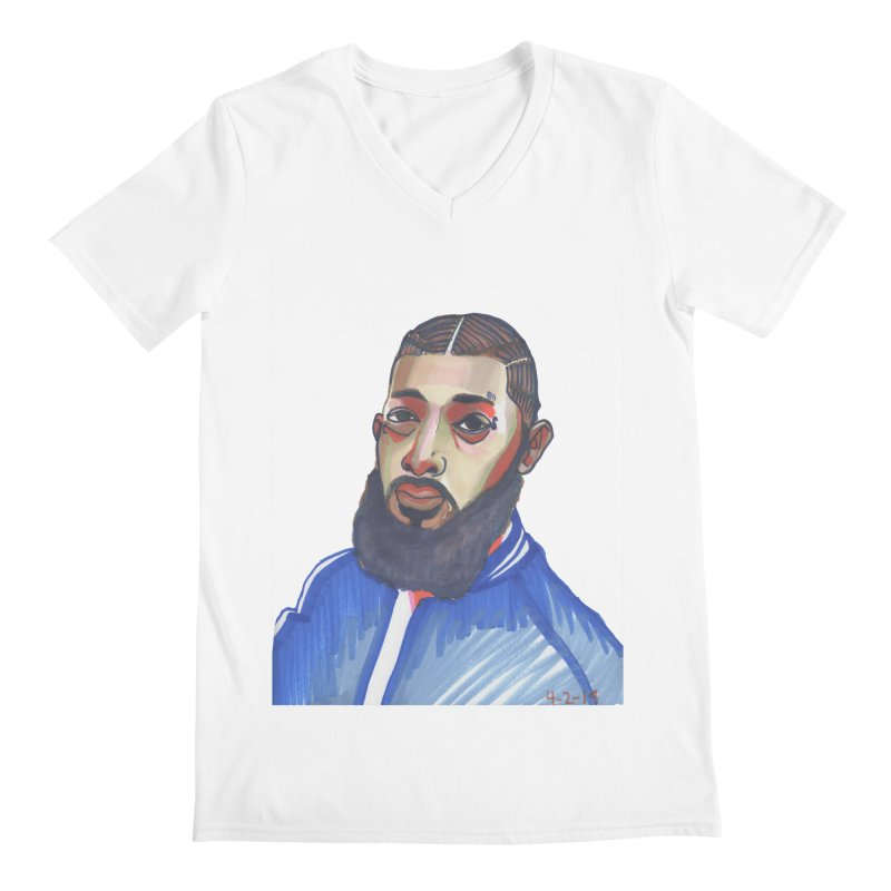 NIPSEY HUSSLE Men's V-Neck by birdboogie's Artist Shop