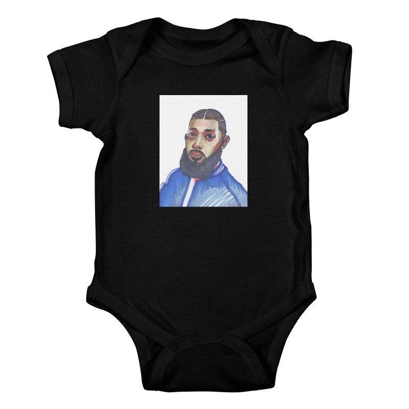 NIPSEY HUSSLE Kids Baby Bodysuit by birdboogie's Artist Shop