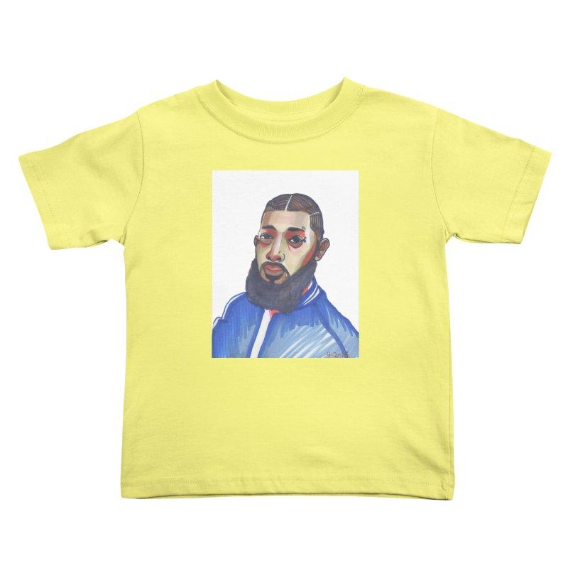 NIPSEY HUSSLE Kids Toddler T-Shirt by birdboogie's Artist Shop