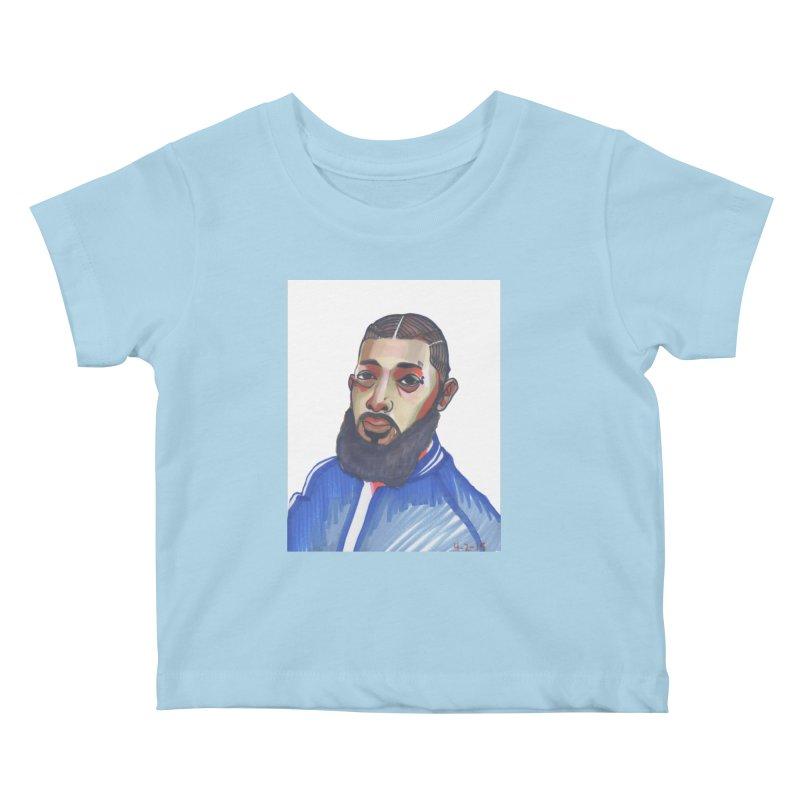 NIPSEY HUSSLE Kids Baby T-Shirt by birdboogie's Artist Shop