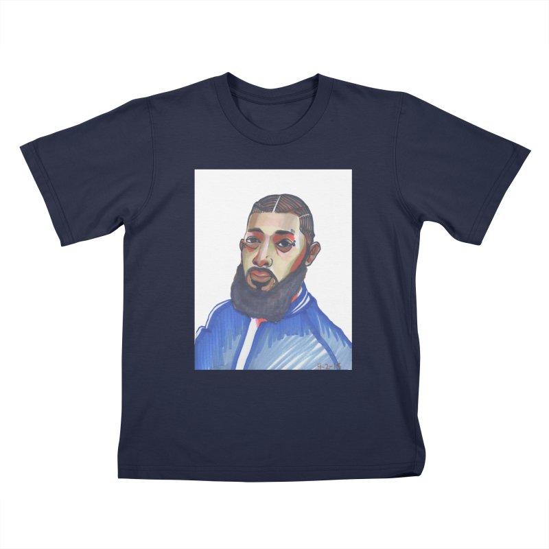 NIPSEY HUSSLE Kids T-Shirt by birdboogie's Artist Shop