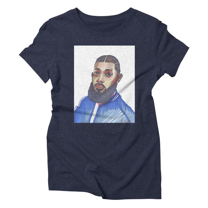 NIPSEY HUSSLE Women's Triblend T-Shirt by birdboogie's Artist Shop