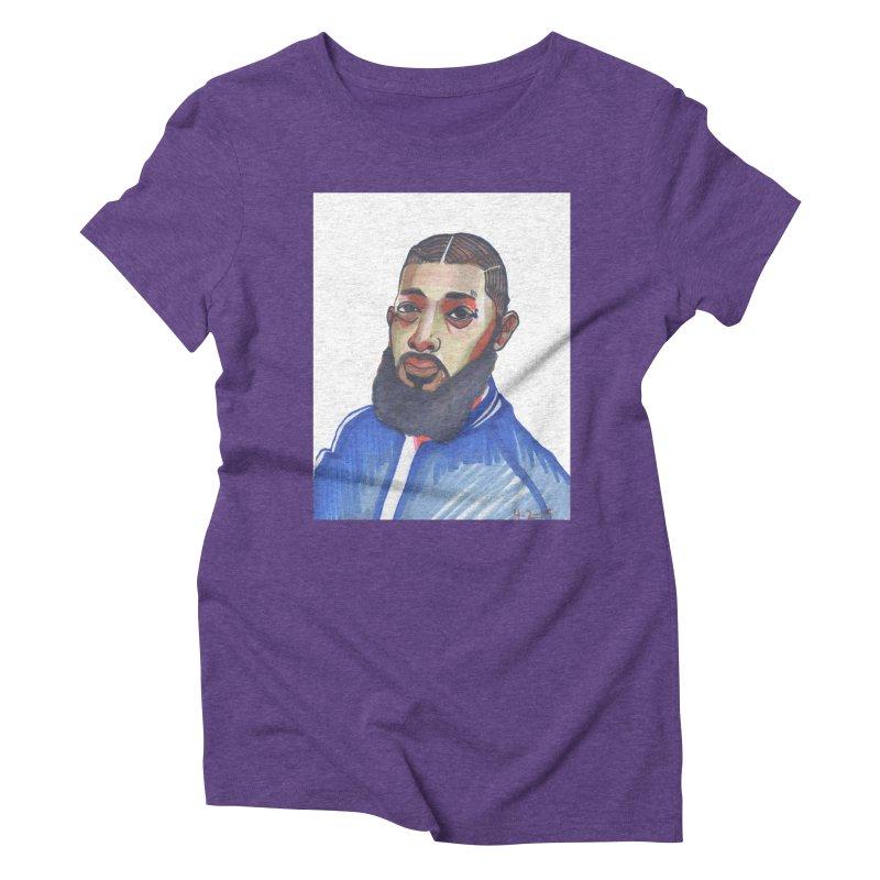 NIPSEY HUSSLE Women's T-Shirt by birdboogie's Artist Shop