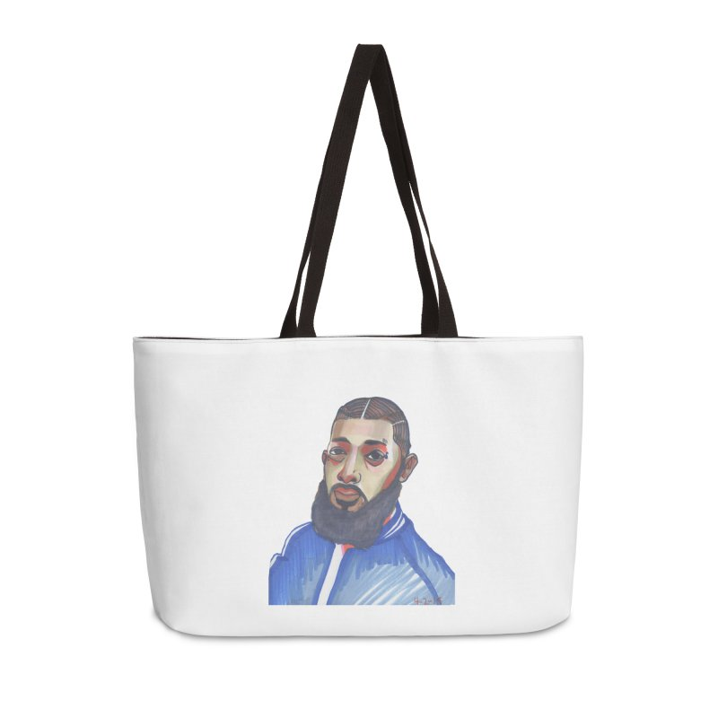 NIPSEY HUSSLE Accessories Weekender Bag Bag by birdboogie's Artist Shop