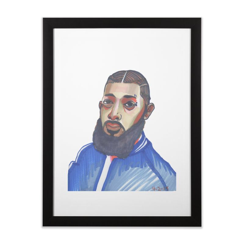 NIPSEY HUSSLE Home Framed Fine Art Print by birdboogie's Artist Shop