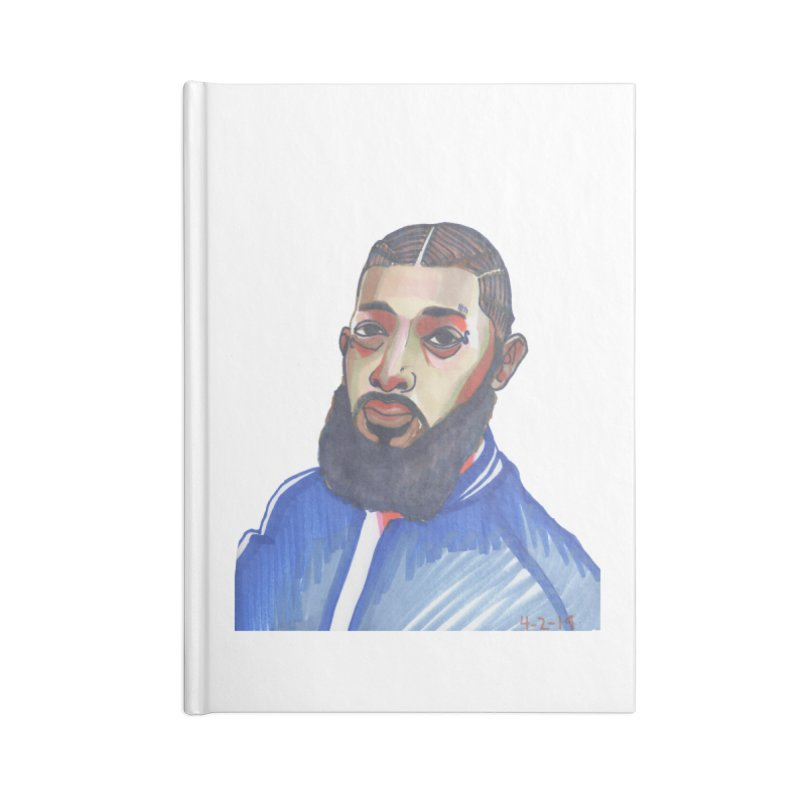 NIPSEY HUSSLE Accessories Blank Journal Notebook by birdboogie's Artist Shop