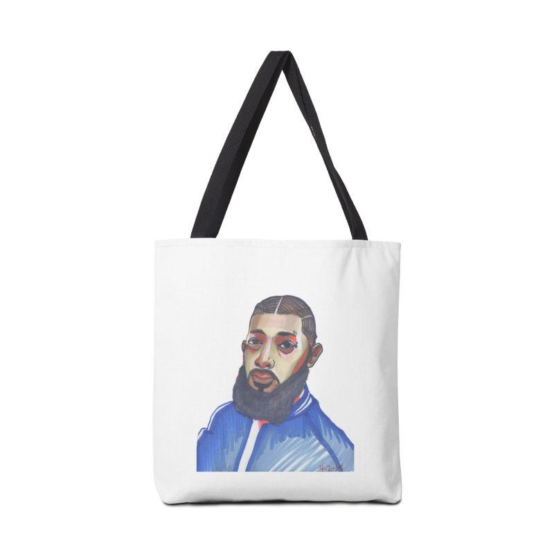 NIPSEY HUSSLE Accessories Tote Bag Bag by birdboogie's Artist Shop