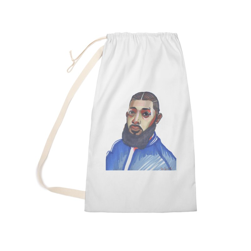 NIPSEY HUSSLE Accessories Laundry Bag Bag by birdboogie's Artist Shop